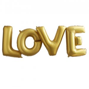 "XXL Ballons ""LOVE"" Gold"