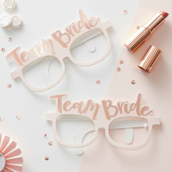 "Partybrillen ""Team Bride"""