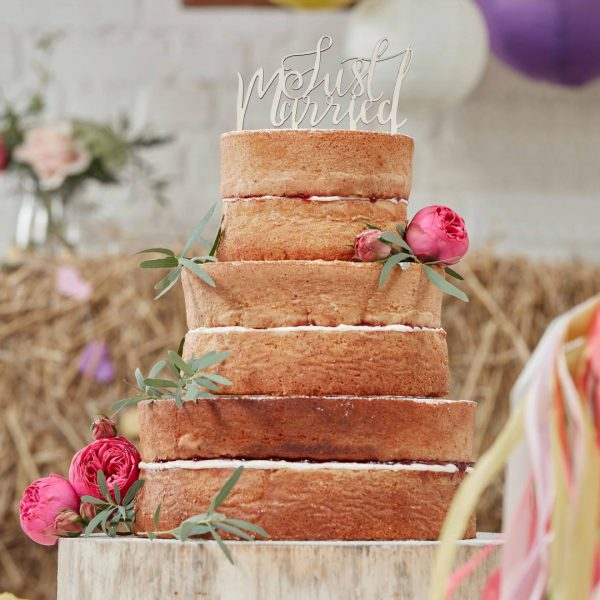 Caketopper aus Holz Just Married