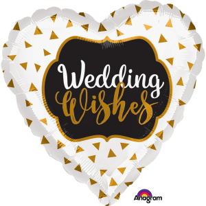 Folienballon Herz, Wedding Wishes