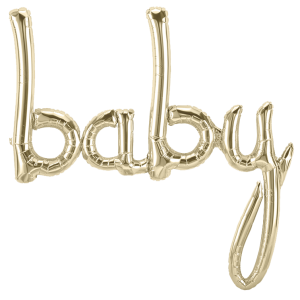 "Folienballon ""BABY"", gold"