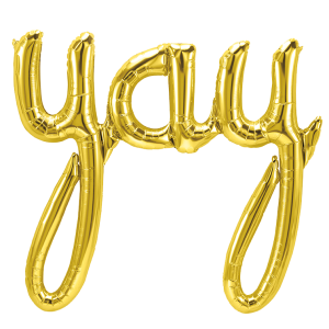 "Folienballon ""yay"", gold"