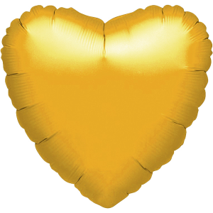 Folienballon Herz, gold-metallic